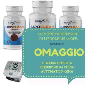 """Vedi l'offerta """"sei mesi di Lipoclean più misuratore di pressione GIMA in omaggio"""": https://fenixlife.it/prodotto/tre-confezioni-lipoclean-60-cpr-integratore-alimentare-colesterolo-trigliceridi-fenix-life"""